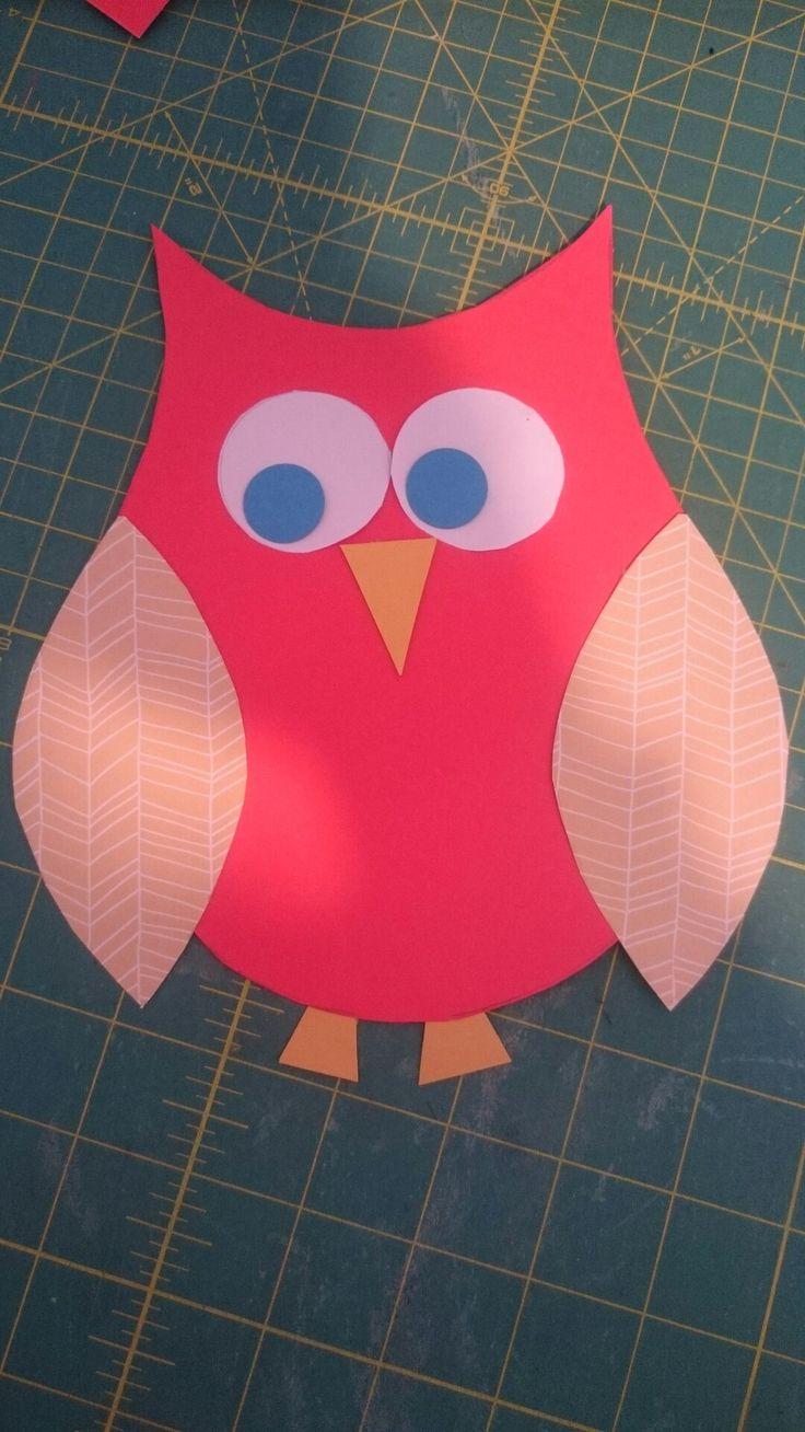 Playgroup craft. Cardstock owl.