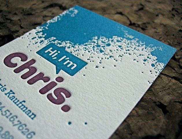 Best Inspiration Letterpress Business Cards Images On