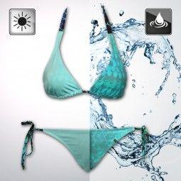 Aqua to Mermaid Bikini - Halter Top & Hose