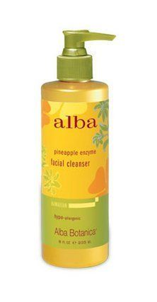 Alba Organics Hawaiian Facial Cleanser, Pineapple Enzyme, 8 oz. by Alba. $9.60. Hypo-allergenic. 78% Certified organic ingredients. Certified Organic Aloe Vera, tropical fruit enzymes and emollients gently loosen, dissolve and wash away impurities for a fresh, healthy complexion. Gentle for all skin types. pH Balanced. 100% Vegetarian ingredients. No animal testing. Made in the U.S.A.