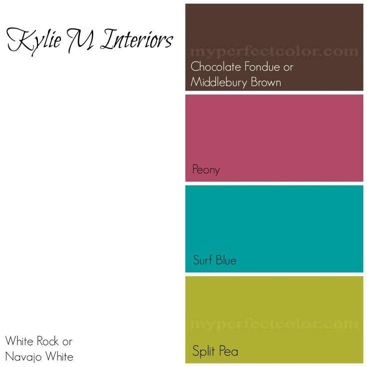 mejor paleta de colores de pintura benjamin como sala de las niñas usando crema, amarillo, rosa, marrón, verde azulado azul y verde