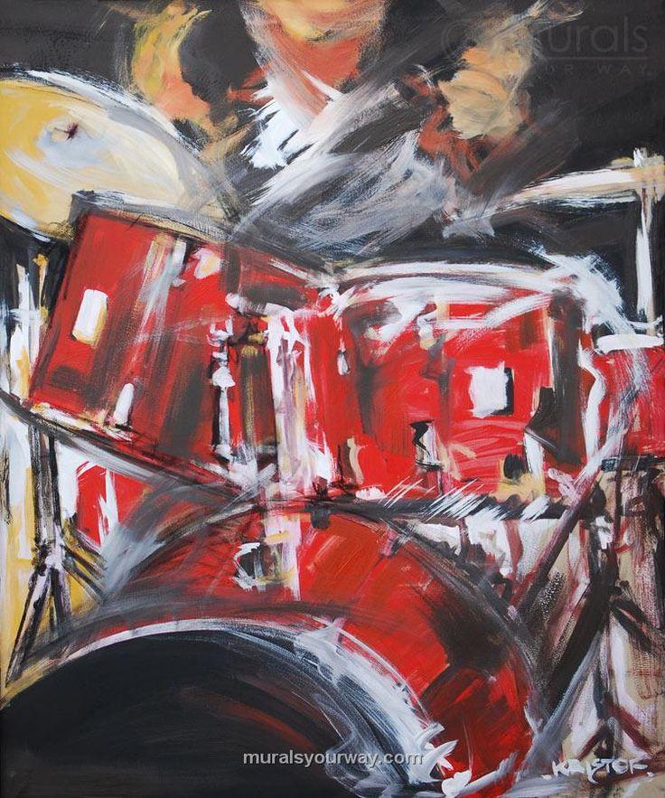 Drummer Mural ~ artist unknown