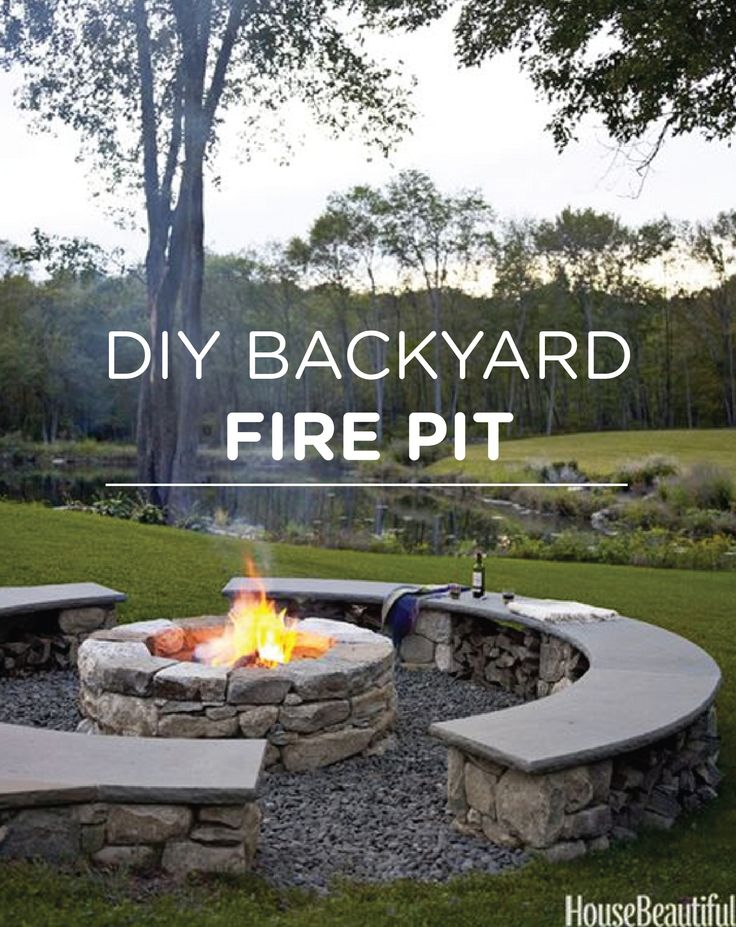 Toast marshmallows this spring with your own DIY backyard fire pit.  [ Wainscotingamerica.com ] #backyard #wainscoting #design