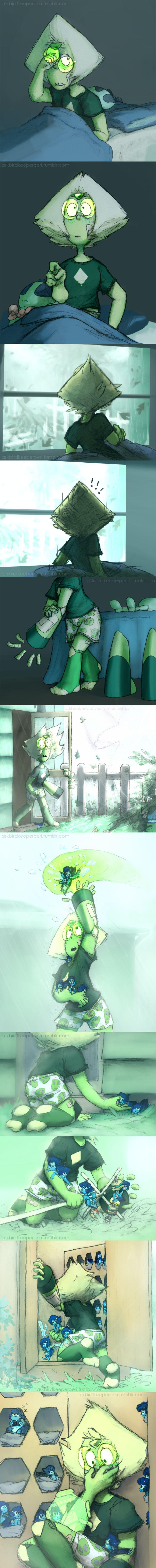 Steven universe,фэндомы,Peridot,SU Персонажи,Lapis Lazuli,SU comics