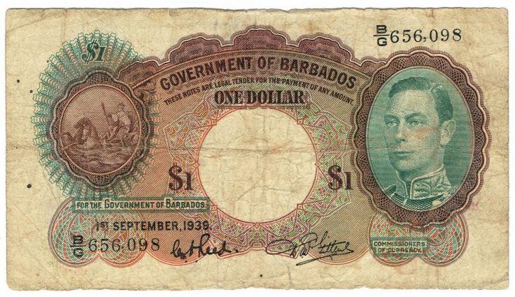 Barbados, 1 Dollar, 1939