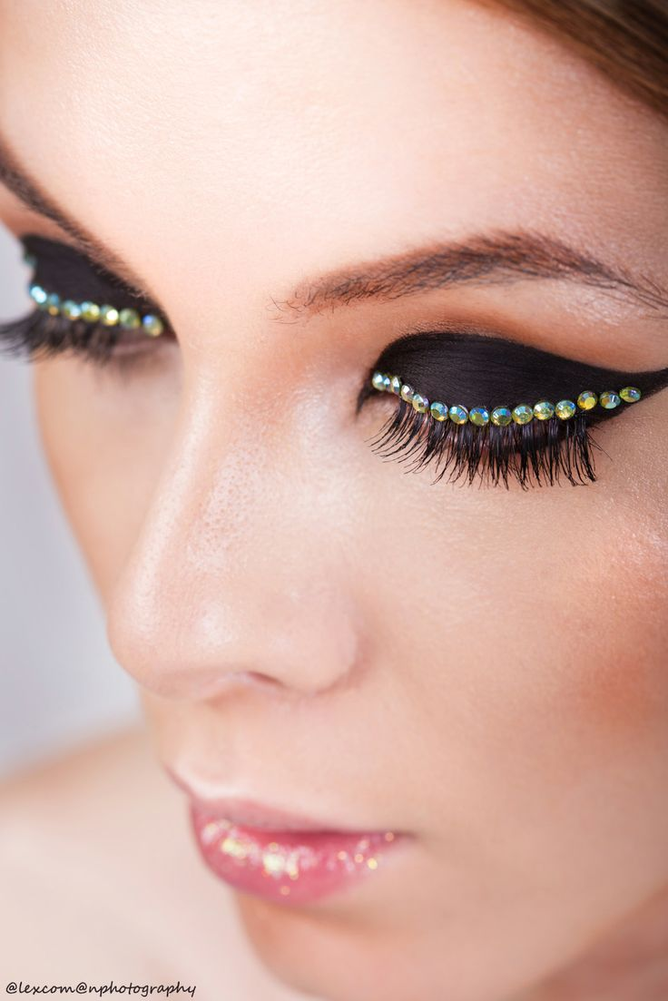 Photography: Alex Coman Photography Model: Madalina Bogeanu _ Victoria Models MUA: Irina Cajvaneanu Make-up #makeup #eyeliner #rhinestones #beauty #photoshoot
