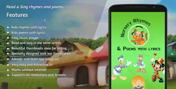 "Purchase the source code of our ""Nursery Rhymes & Poems - Online"" for Android only in $19"