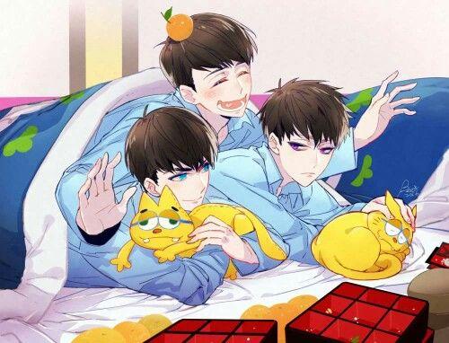 Osomatsu-san- Karamatsu, Ichimatsu, and Jyushimatsu #Anime「♡」