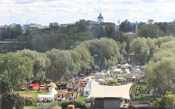 Näkymää linnalta. ©Ulla Seppälä, Hämeen Keskiaikamarkkinat