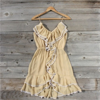 Buttercream Ruffle Dress...spool no. 72-