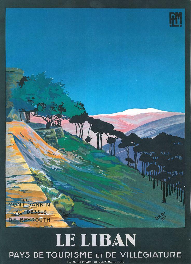PLM Le Liban French Vintage Poster | Paris Lyon ...