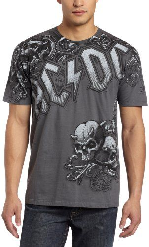 Liquid Blue Men`s Ac/dc Night Prowler Tee