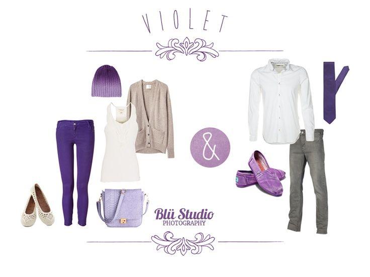 Engagement photo and portrait photography clothing guide to the colour purple / violet for summer.