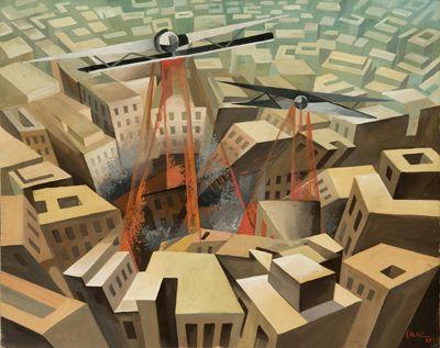 Tullio Crali (Italian, Futurism, 1910-2000): In Free Fall (In Caduta Libera), 1964.