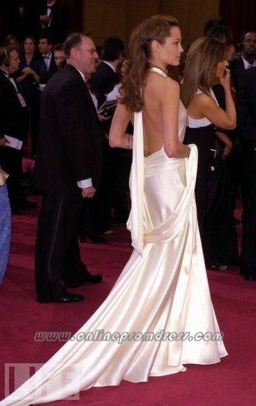 Angelina Jolie Red Carpet Evening Gown Oscar Slip ...