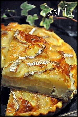 Tarte pommes de terre et brie                                                                                                                                                                                 Plus