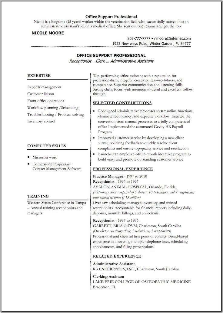 Sample Resume Word Format Entrancing 10 Best Curriculum Vitae Images On Pinterest  Resume Resume .