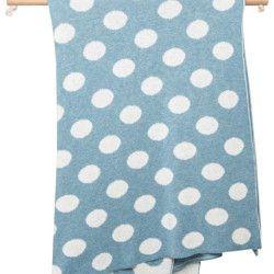 Luna Ninos Combed Cotton Spot Blanket – Budgie