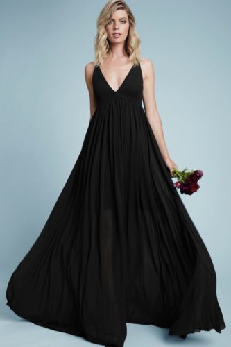 2966ad5cb17 New Dress The Population Phoebe Long Chiffon Maxi Dress Gown Small Wedding  Party