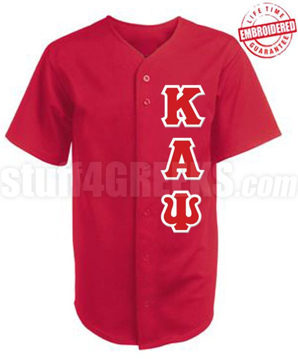 Kappa Alpha Psi Greek Letter Cloth Baseball Jersey. $62.99