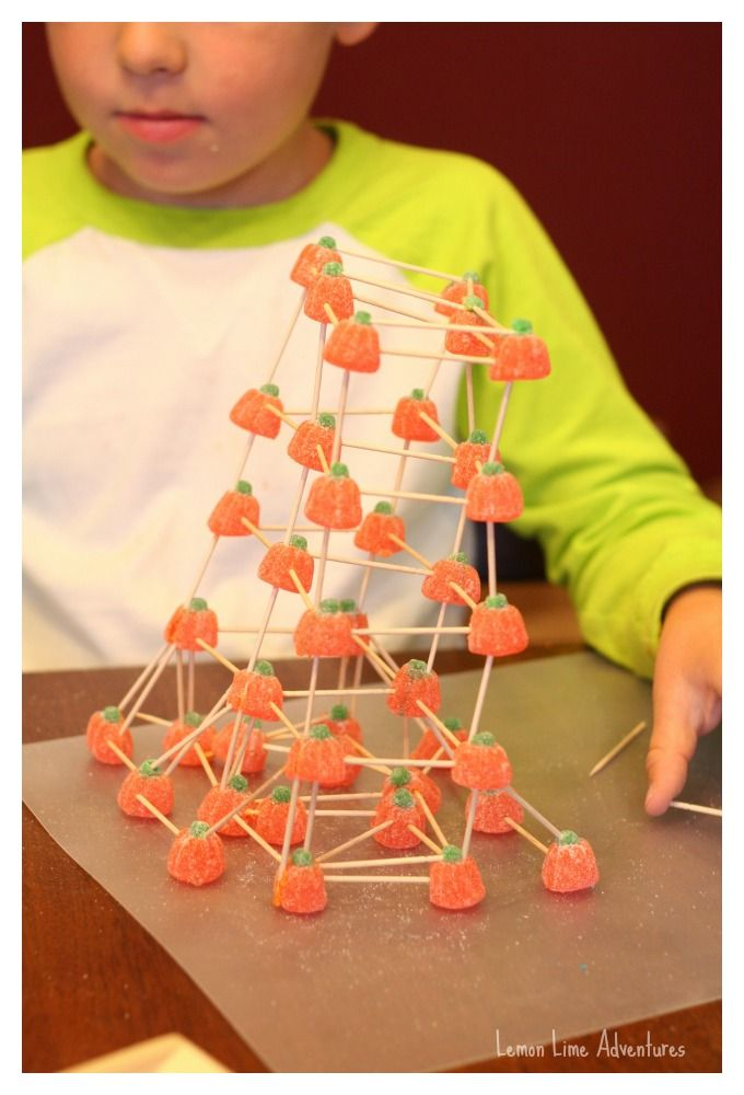 Tower Building Activity - could use gumdrops with holiday colors if the fun holiday shapes can't be found!