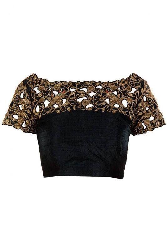 Interesting sari blouse