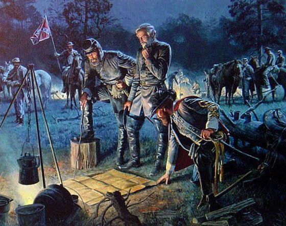 mort kunstler civil war paintings | ... about American Civil War Print The Last Council Art By Mort Kunstler