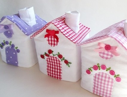plush fabric house or tissue covers