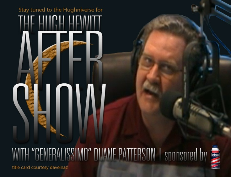 "Duane ""Generalissmo"" Patterson, aka DP, hosts the Aftershow, Duane FM & The Tribble 12! (all in the Hughniverse)"
