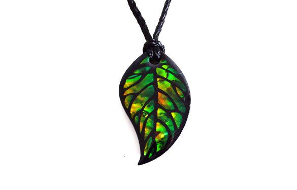 Paua World - Leaf Pendant, $24.90 (http://www.pauaworld.com/leaf-pendant/)