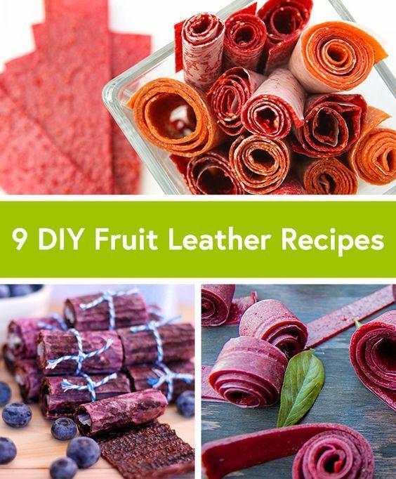 9 Homemade Fruit Roll-Up Recipes - Life by DailyBurn   Frutta, Ricetta In Pelle Di Frutta e Ricette Con Frutta