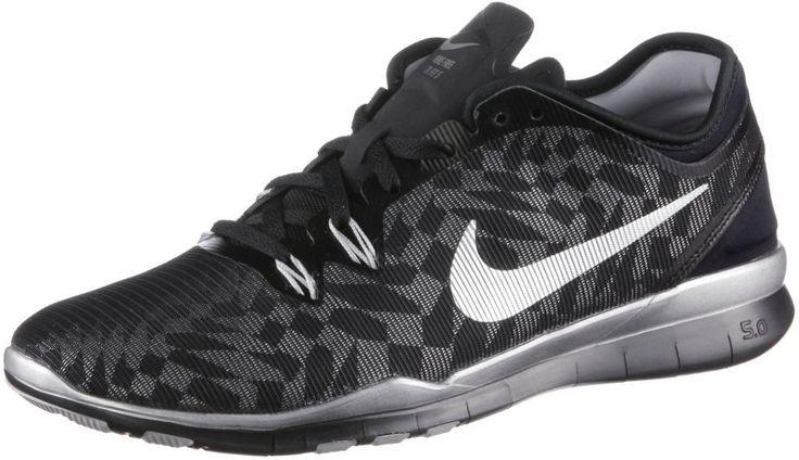 Nike Free 5.0 Trainer En Forme Quatre Chaussures De Fitness Femmes Noir / Jaune Fluo