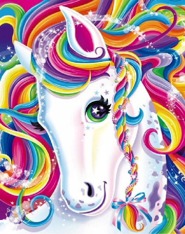 rainbow unicorn by Lisa Frank  USE this for the pin the horn on the unicorn game! :)