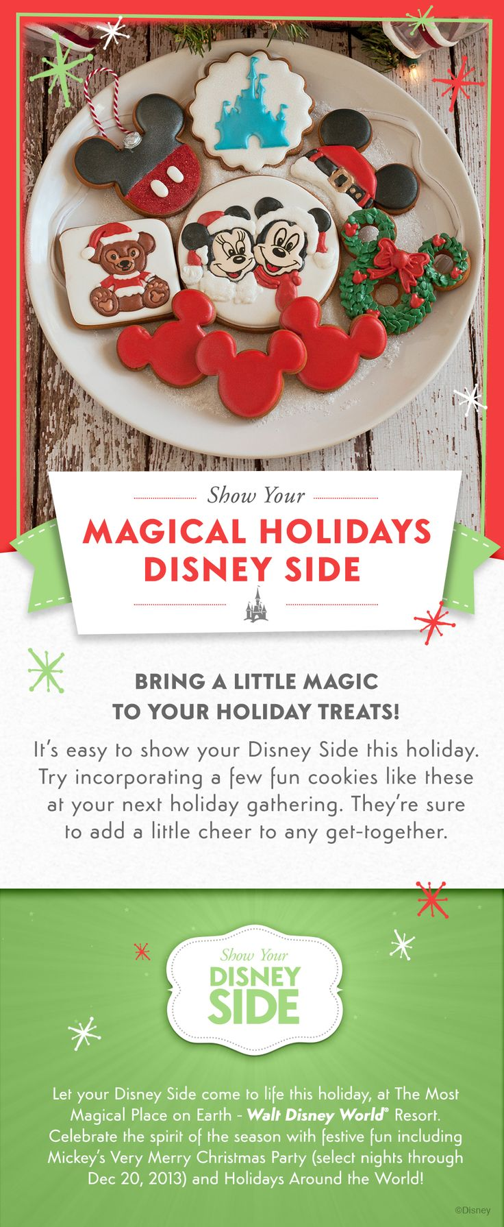 It's easy to show your #DisneySide this holiday with these fun Christmas cookies!