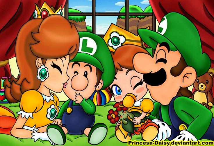 Daisy Baby Luigi Baby Daisy And Luigi Geeking Out