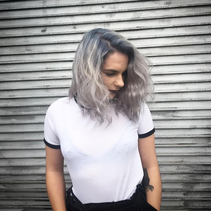 Silver and grey by @bradbaker for our #PERISCOPE tutorial using all products from #BLEACHLONDON. Click the link in the bio to see how it was done