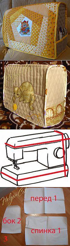 Домик вышивающей кошки: Чехол для швейной машины - как его сшить Мастер-класс