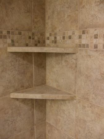 Marvelous Tile Shower Shelves