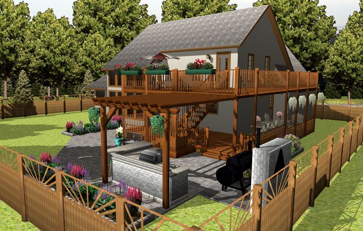 House 3D Model/Rendering | Created in TurboFloorPlan 3D Home & Landscape v17 | #CAD, #Rendering, #Design, #Home #Design, #3D #Model, #Home #Inspiration