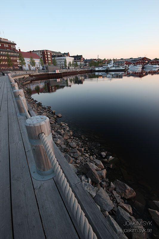 Norra hamn midnatt, Luleå   #MidnightSun