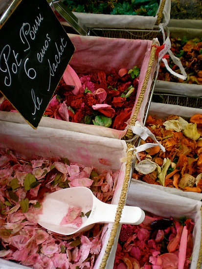 #French #Flower #Markets - Flower petals, Grasse, France http://www.thefrenchpropertyplace.com