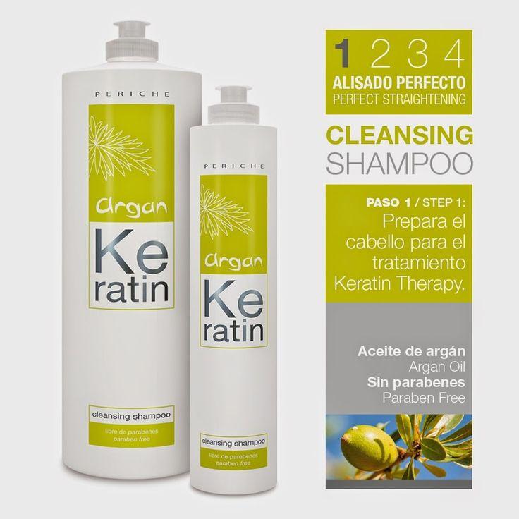 Con aceite de argán y sin parabenes, Cleansing es el champú específico para la aplicación de tratamiento de keratina ARGAN KERATIN THERAPY. Ayuda a limpiar de residuos el cabello y a prepararlo para el tratamiento posterior de keratina.  #champú   #shampoo   #keratina   #Cleansing   #productoscapilares