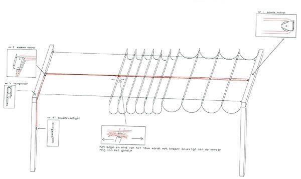 sliding sail canopy diagram