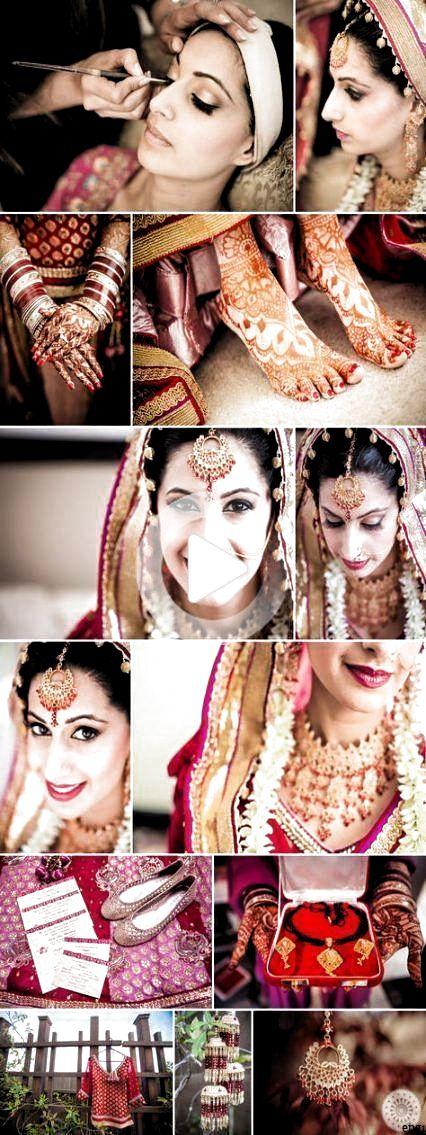 chignon pour des idées de coiffure de mariage indien #hairstyle #bun #wedding #indian #hairst ...