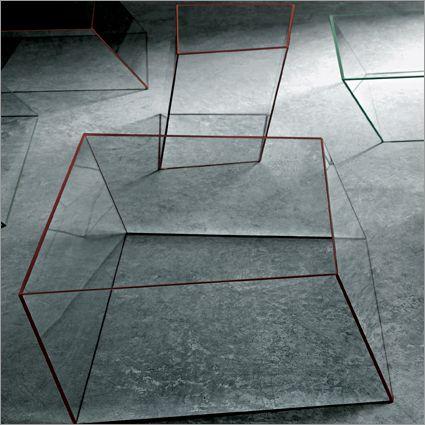 glass coffee table by Piero Lissoni