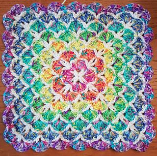 """This is a gorgeous and popular pattern that has been circulating around for years, written and re-written by many people, in this re-write I have used all American English crochet terminology, using """"modules"""" of stitches to make it easier to understand the construction of the pattern. This is a really fun and easy pattern once you get the hang of it, and it works up quickly to make a really sweet gift for a baby or just about anyone…who doesn't love a hand made soft snugly blanket? :)"""