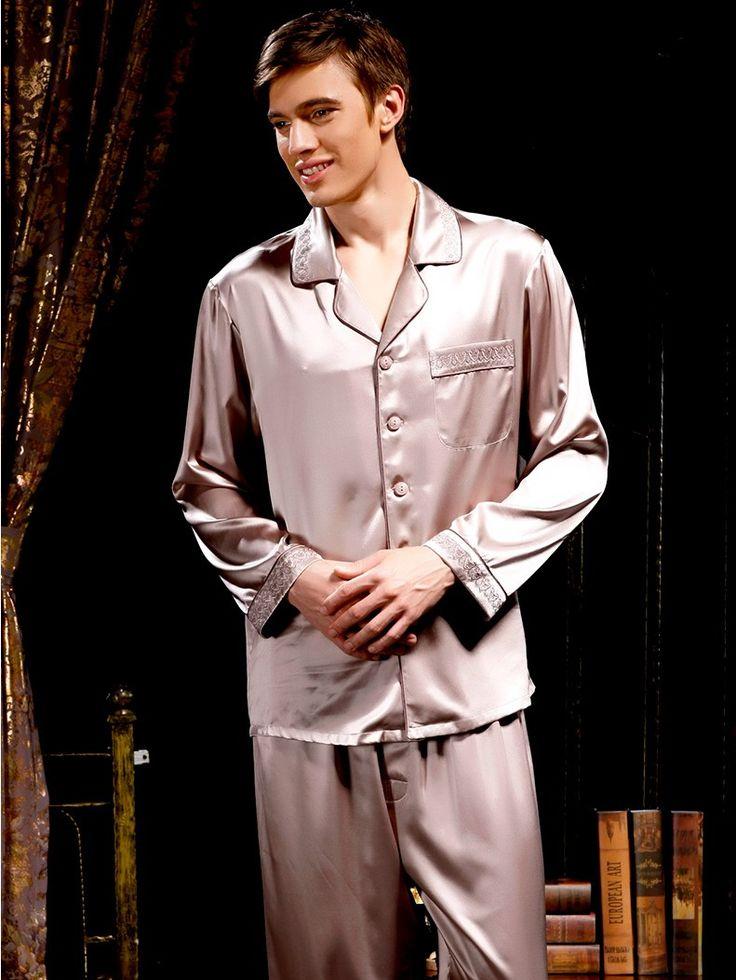silk pajamas for men #menssilkpajamas