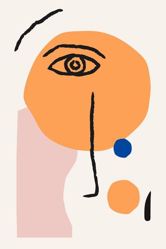 Matisse Inspired Poster | 24×36 print Minimal Art, Abstract Print, Minimalist Art Print, Minimal Wall Art, Bohemian Abstract Art Scandi