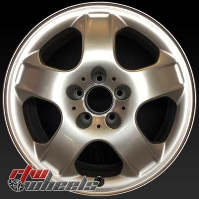 "Mercedes ML320 wheels for sale 2002-2003. 17"" Silver rims 65264 - http://www.rtwwheels.com/store/shop/17-mercedes-ml320-wheels-for-sale-silver-65264/"
