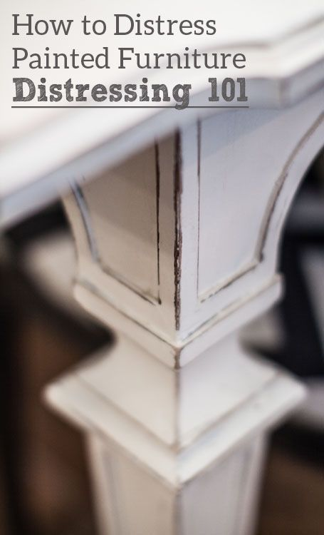 How to Distress Painted Furniture. I love painted furniture, especially painted with chalk paint, and sometimes the distressed finish makes it perfect!